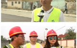 贝宁国家广播电视台采访报沐鸣2测速娱乐道电建市政公司贝宁项目